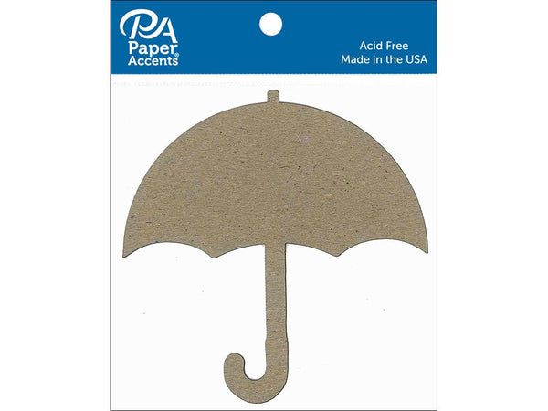 Paper Accents Chip Shape Umbrella Natural 8pc | Craftastic Cabin Inc