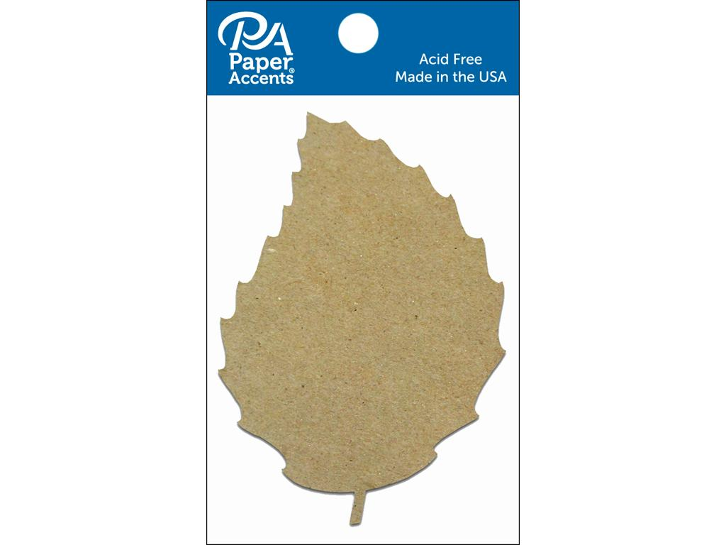 Paper Accents Chip Shape Rose Leaf Natural 8pc