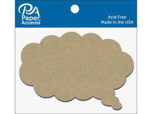 Paper Accents Chip Shape Thought Bubble Natural 8pc
