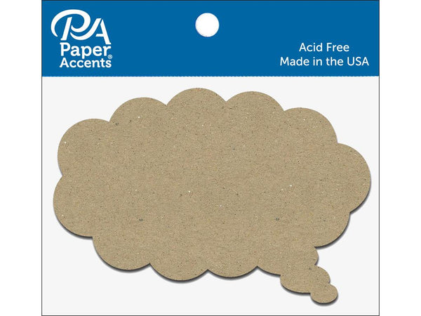Paper Accents Chip Shape Thought Bubble Natural 8pc | Craftastic Cabin Inc