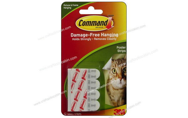 3M Command Adhesive Replacement Poster Strips 12pc - Craftastic Cabin Inc