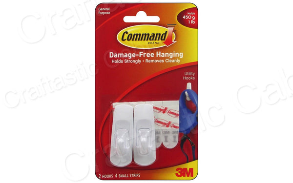 3M Command Adhesive Hook Small 2pc | Craftastic Cabin Inc