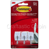 3M Command Adhesive Wire Hook 3pc small