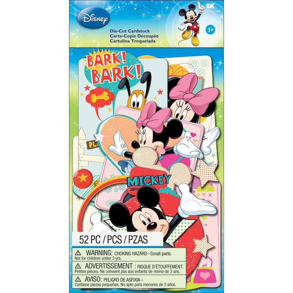 Mickey Family - Ek Success Disney Cardstock Die-Cuts 52/pkg | Craftastic Cabin Inc