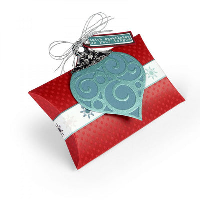 Sizzix Dies Lindsey Serata Bigz Pillow Box With Ornaments