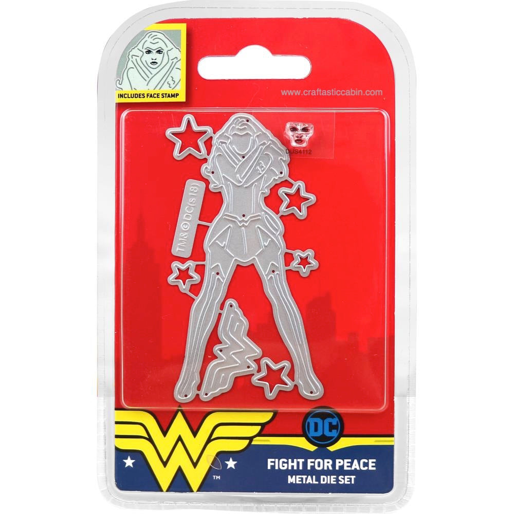DC Comics Wonder Woman Die and Face Stamp Set Fight for Peace