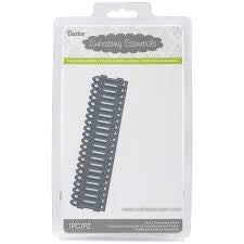Darice Embossing Essentials Die, Picket Fence Border