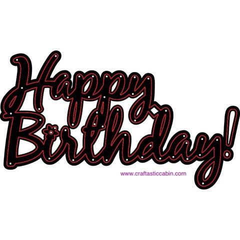 Darice® Word Craft Dies - Happy Birthday - 1 Piece | Craftastic Cabin Inc