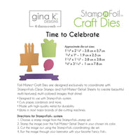 Gina K Designs Die Set - Time to Celebrate - Craftastic Cabin Inc