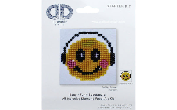 Diamond Dotz Facet Art Kit Starter Smiling Groove 3