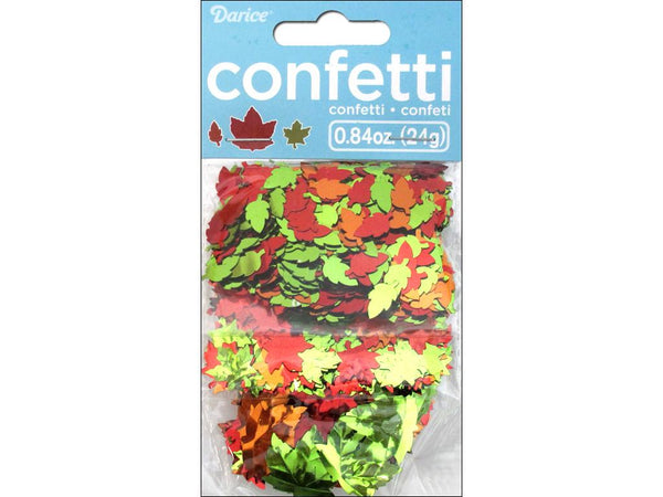 Darice Confetti Pack Fall Leaves .84oz | Craftastic Cabin Inc