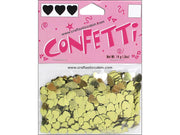 Darice Confetti Pack 6mm Hearts Gold .5oz