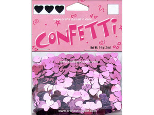 Darice Confetti Pack 6mm Hearts Pink .5oz