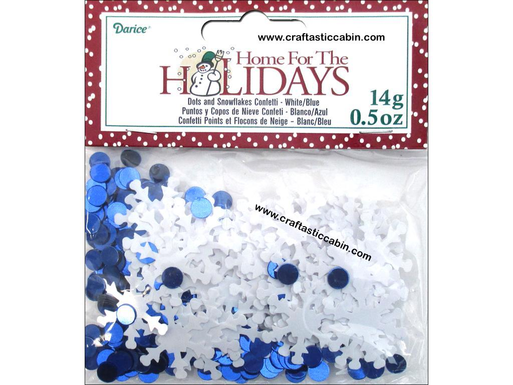 Darice Confetti Pack Holiday Snowflake Dots .5oz