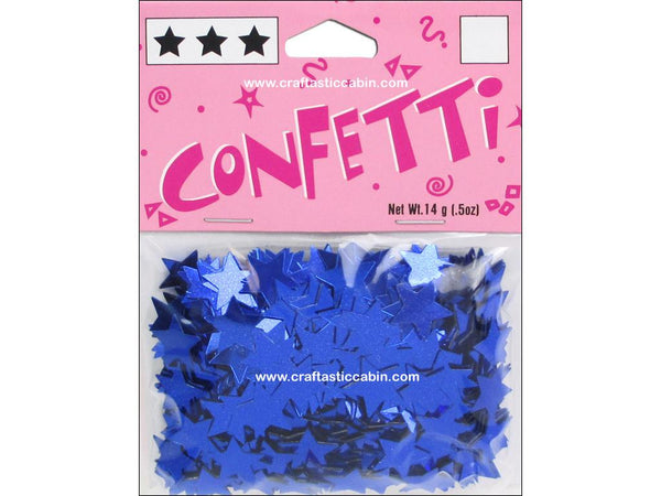 Darice Confetti Pack 11mm Stars Blue .5oz | Craftastic Cabin Inc