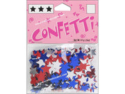 Darice Confetti Pack 11mm Stars Red/White/Blue .5oz