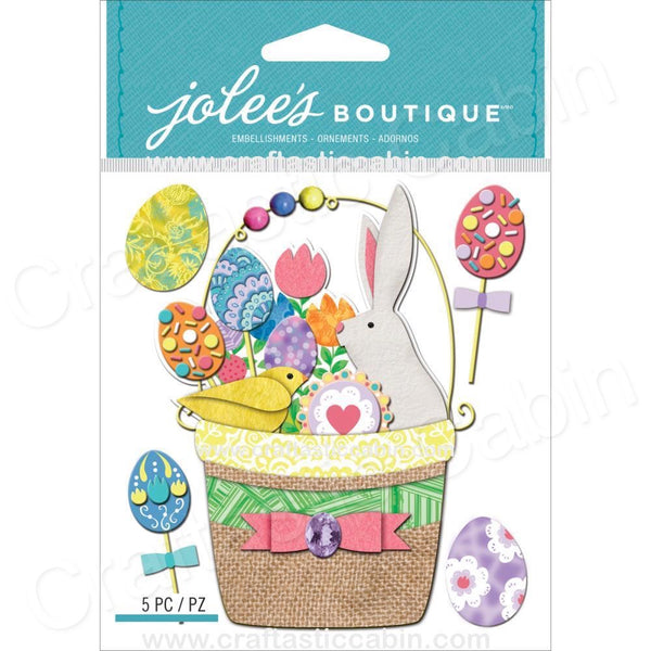 EK Success Jolee's Boutique Easter Basket | Craftastic Cabin Inc