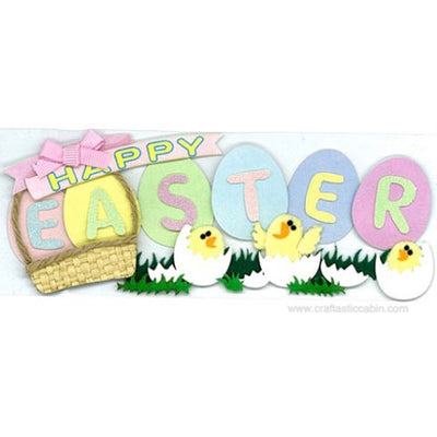 EK Success Jolee's Boutique® 3-D Stickers - Happy Easter Title