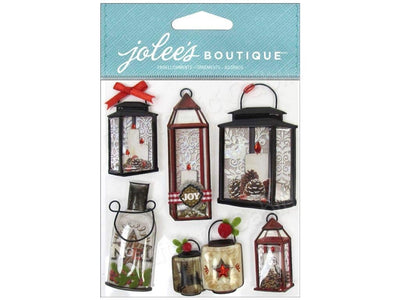 EK Success Jolee's Boutique Holiday Lanterns & Holly