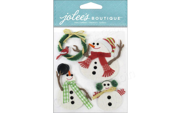 EK Success Jolee's Boutique Snowmen | Craftastic Cabin Inc