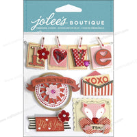 EK Success Jolee's Boutique Valentine Words