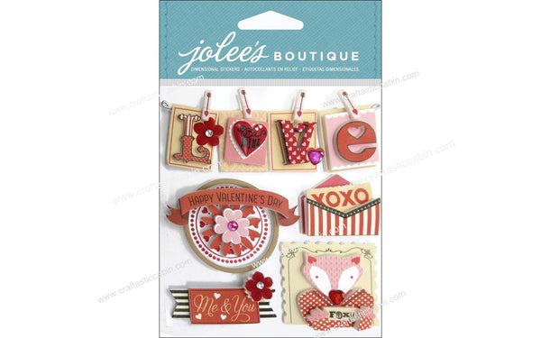 EK Success Jolee's Boutique Valentine Words | Craftastic Cabin Inc