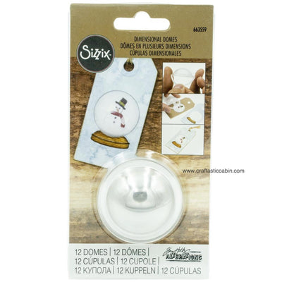 Sizzix Dimensional Domes 12/Pkg Inspired By Tim Holtz Clear 1.25