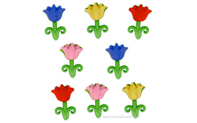 Jesse James Buttons Easter Tulip