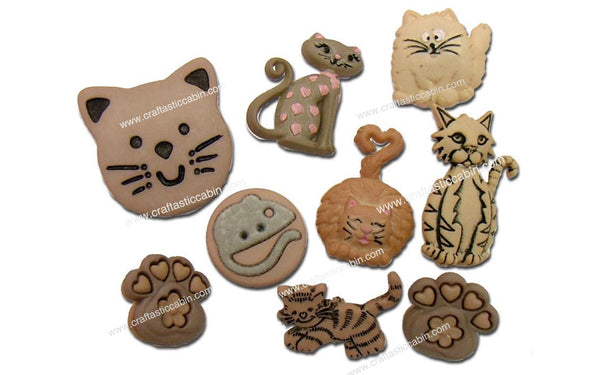 Jesse James Buttons Feline Fancy | Craftastic Cabin Inc