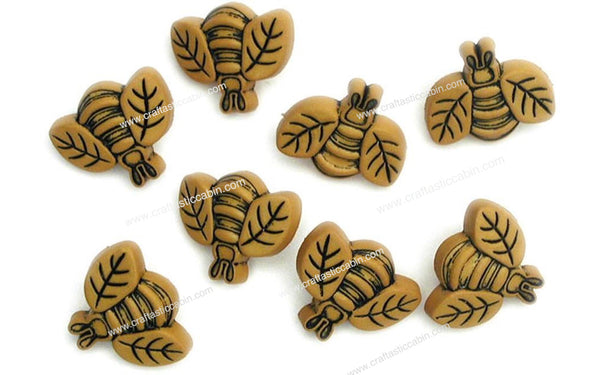 Jesse James Buttons Fun Bees | Craftastic Cabin Inc