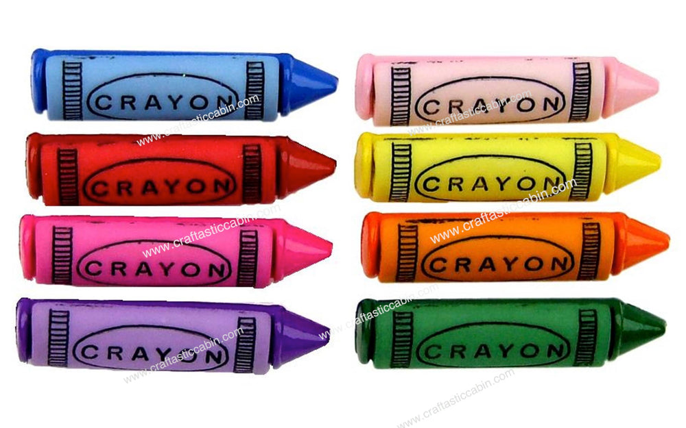 Jesse James Buttons Fun Crayons | Craftastic Cabin Inc