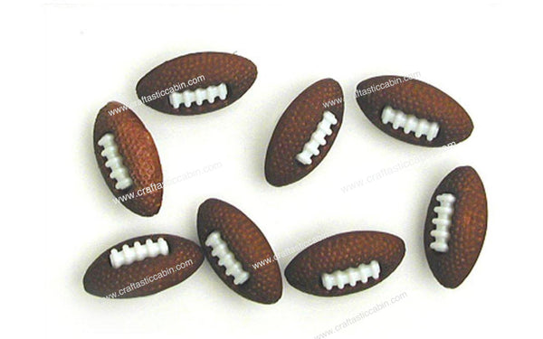 Jesse James Buttons Fun Football | Craftastic Cabin Inc