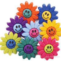 Jesse James Buttons Fun Smiley Flowers