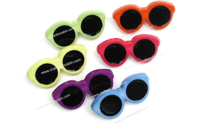 Jesse James Buttons Fun Sunglasses