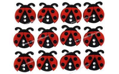 Jesse James Buttons Sew Cute Ladybugs