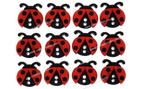 Jesse James Buttons Sew Cute Ladybugs | Craftastic Cabin Inc