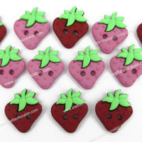 Jesse James Buttons Sew Cute Strawberries