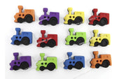 Jesse James Buttons Trains