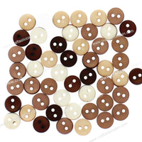 Jesse James Buttons Tiny Round Natural