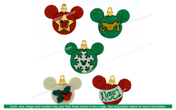 Jesse James Dress It Up Disney Mickey Ornaments | Craftastic Cabin Inc
