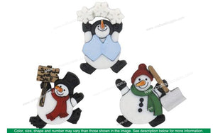 Jesse James Dress It Up Rolly Poly Snowman