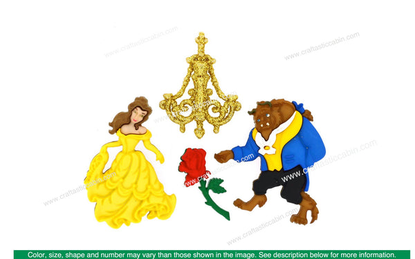 Jesse James Dress It Up Disney Beauty & The Beast | Craftastic Cabin Inc