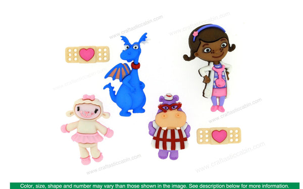Jesse James Embellishments Disney Doc McStuffins | Craftastic Cabin Inc