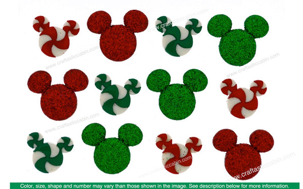 Jesse James Embellishments Disney Holiday Candies | Craftastic Cabin Inc
