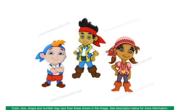 Jesse James Embellishments Disney Jake & The Neverland Pirates | Craftastic Cabin Inc