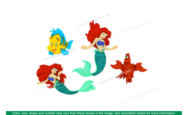 Jesse James Embellishments Disney The Little Mermaid | Craftastic Cabin Inc