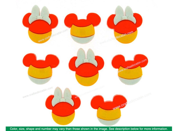 Jesse James Embellishments Disney Mickey & Minnie Candy Corn | Craftastic Cabin Inc