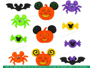 Jesse James Embellishments Disney Mickey & Minnie Halloween