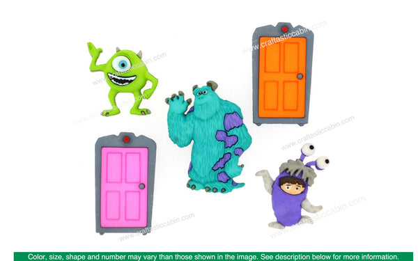 Jesse James Embellishments Disney Monsters Inc. | Craftastic Cabin Inc