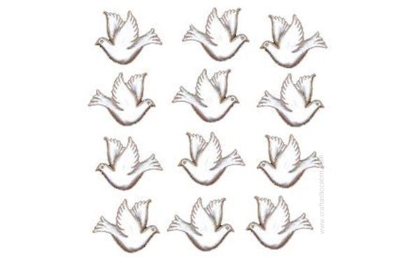 Jesse James Embellishments Doves | Craftastic Cabin Inc